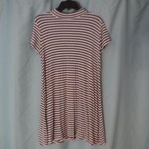 Rolla Coster Red, Gray, and White Striped Dress